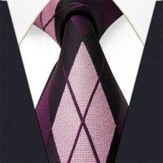 Purple Argyle Silk Necktie