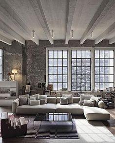 Living Room Design By Zanotta. Again, I love the living room ceiling design. Of course, the living room design is also very beautiful. Living Room Designs, Living Spaces, Living Rooms, Living Area, Bedroom Designs, Style Loft, Home Fashion, Style Fashion, Mens Fashion