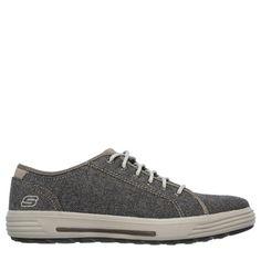 Skechers Men's Porter Meteno Wide Memory Foam Sneakers (Dark Brown) - 12.0 W