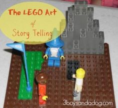 Telling Stories with LEGO Education: Story Starter posted at Boys and a Dog written by Peterson Peterson Brown Lego Math, Lego Craft, Kinesthetic Learning, Fun Learning, Lego Projects, Science Projects, Lego Engineering, Teaching Boys, Lego Challenge
