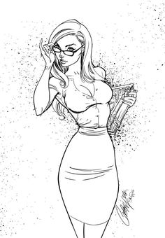 Find this pin and more on sexy women. sexy adult coloring pages in 2019 ком Woman Sketch, Girl Sketch, Woman Drawing, Sexy Drawings, Art Drawings Sketches, Pin Up Zeichnungen, J Scott Campbell, Desenho Tattoo, Up Girl