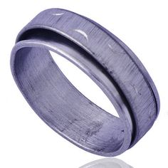 Wedding-Carve-cute-moon-Mens-Womens-Band-Ring-White-Stainless-Steel-Size-11
