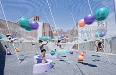 Young Architects Program / Pole Dance by Solid Objectives - Idenburg Liu / MoMA PS1's courtyard  / 2010