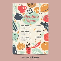 More than 3 millions free vectors, PSD, photos and free icons. Exclusive freebies and all graphic resources that you need for your projects Design Plat, Design Food, Food Poster Design, Web Design, Food Menu Template, Restaurant Menu Template, Menu Restaurant, Cafe Menu Design, Menu Card Design
