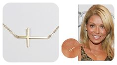 Kelly Ripa inspired skinny cross necklace available in store!