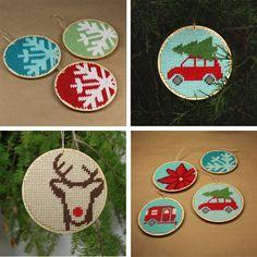 3 wooden cross stitch or needlepoint blank by ModernNeedleworks, $8.00