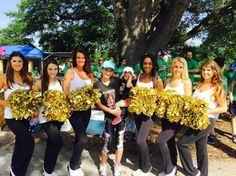 The Saintsations Cheerleaders joined us for the PKD Walk, May 30, 2015, New Orleans.