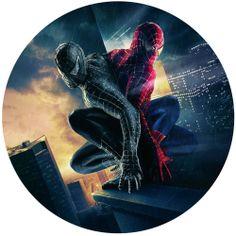 Spiderman moveable fabric decor sticker