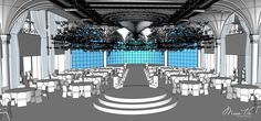 Stage | Angelic - Nam&Ngoc #misavuluxuryevents #MisaVu #Decorations #Angelic #Wedding #luxury #white #events #stage #aisle #architecture #party #space #sketch