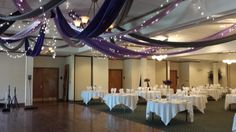 The Gala Event - Chambersburg, PA - Our creative team has designed this unique draping arrangement. Contact us today for custom draping for your wedding or party! #thegalaevent