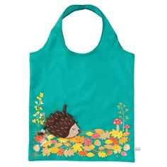 Hedgehog Foldable Shopping Bag available to buy direct from Sass & Belle. Charming gifts and homeware, designed with love. Free Samples Uk, Freebies Uk, Sass & Belle, Fox Pattern, Novelty Items, Couture, Reusable Bags, Baby Sewing, Totes