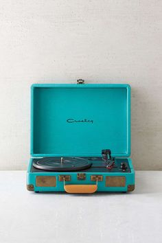 I really want one of these! I think they are coming back and are so cool! They would look super cute in a room and definitely Tumblr!  Crosley X UO Cruiser Briefcase Portable Vinyl Record Player from Urban Outfitters