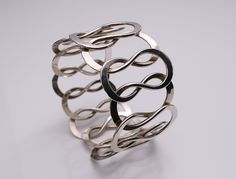 Designed by Anna Greta Eker for Plus Workshop Norway c.1970 Sterling Silver handmade weight 66 grams
