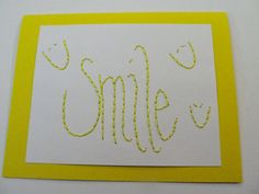 Smile Embroidered Card