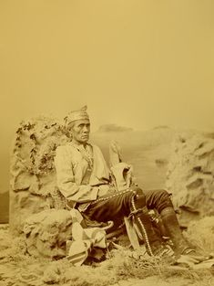 An old photograph of Sub Chief Narbona Primero - Navajo 1874-5.