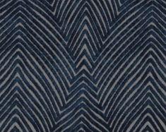 Modern Navy Blue Velvet Upholstery Fabric for Furniture - Textured Dark Blue Velvet Throw Pillows - Navy Blue Velvet for Furniture