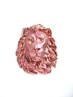Large Faux Taxidermy Lion Head wall mount wall by mahzerandvee, $92.00