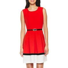 Liz Claiborne Colorblock Sleeveless Crepe Dress - Petite - jcpenney