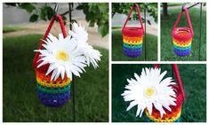 Rainbow Mason Jar Hanger