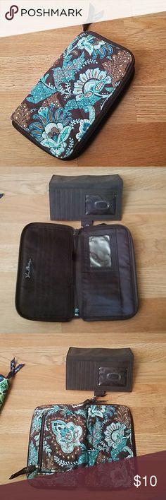 Vera bradley wallet Blue and brown vera bradley wallet Vera Bradley Bags Wallets