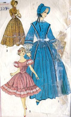 1960s Misses' Centennial Costume and Square Dance Dress Pattern