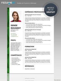 Dalston Modele Gratuit De Cv A Telecharger Teacher Resume Template Free Free Resume Template Word Free Resume Template Download