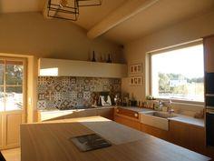 Cuisine Ateliers POivre d'Ane Chêne Marbre  Billot Contemporain Decor, Furniture, Home Decor, Table