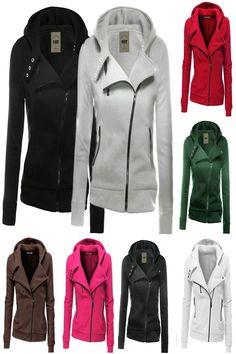 c94fec21b 17.87 | Women Ladies Zipper Tops Hoodie Hooded Sweatshirt Coat Jacket  Casual Slim Jumper ❤