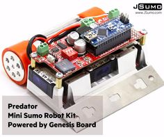 Super #minisumo robot kit for all robot tournaments, Low COG, excellent maneuverability and strong design.  http://www.jsumo.com/predator-mini-sumo-robot-kit-full-kit-not-assembled  #jsumo