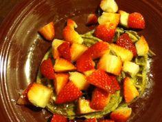 Kashi waffles with strawberries!