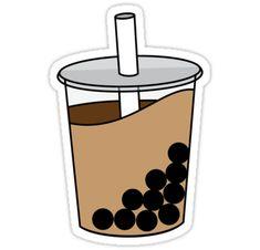 'Boba Time (Milk Tea)' Sticker by nissaerith Homemade Stickers, Food Stickers, Phone Stickers, Kawaii Stickers, Diy Stickers, Printable Stickers, Tea Wallpaper, Wallpaper Stickers, Wallpaper Iphone Cute
