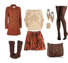 Autumn: boots, skirt, tights..... and the coat.