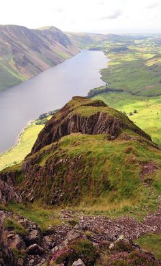 View from the top of Yewbarrow, Lake District, England by Andrew Seeney