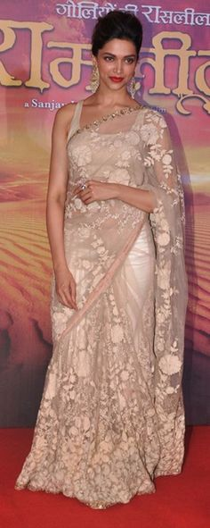I want this..! beautiful feminine Sabyasachi creation!! #cream #white #whitewedding