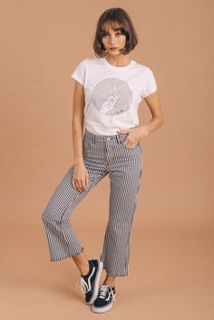 d9541051221 Afends Womens Reeves - Mid Waist Crop Flare Jeans Crop Flare