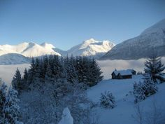 Winter in Olden, view from the Skarstein seter