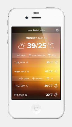Weather app design . By Haziq Mir . On dribbble .