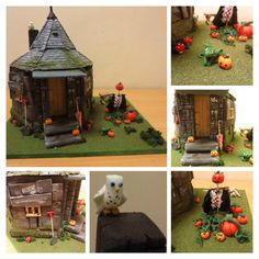 in my as-level graphics our first unit is to create a model 'using a range of skills'. naturally i turned to harry potterso here is my final result: hagrids hut, made from styrofoam, ca. Harry Potter Miniatures, Harry Potter Dolls, Harry Potter Food, Slytherin, Hogwarts, Hagrids Hut, Kids Castle, Potters Clay, Barbie Diorama