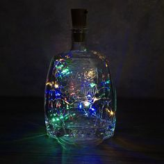 LED Garland Copper Wire Corker String Fairy Lights for Glass Craft Bottle New Year/Christmas/Valentines Wedding Decoration Lighted Wine Bottles, Bottle Lights, Glass Bottles, Warm White Fairy Lights, Led Garland, Light Crafts, Wow Products, Bottle Crafts, Copper Wire