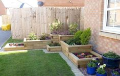 Building a raised garden - Raised garden beds diy Add height and colour to front gardens and tight corners A WoodBlocX corner raised bed can designed to a height that suits you and can include any number of planting sections Use of FREE bespoke des – Buil Raised Garden Bed Plans, Building A Raised Garden, Raised Bed Planting, Raised Garden Bed Design, Front Gardens, Corner Garden, Small Garden Design, Garden Design Ideas On A Budget, Yard Design