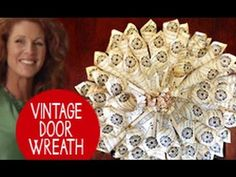 Jenna shares with her her coolest design for a vintage door wreath: Start with an old book and turn it into a masterpiece! Free design downloads and more pro...