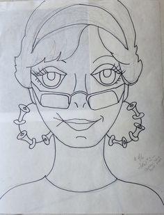 https://flic.kr/p/ehCm1k | Lady #46 - Jan #2 - the drawing