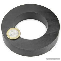 FE-R-100-60-20: Ring magnet Ø100/60mm, height20mm(Ferrite Magnets) - supermagnete.de