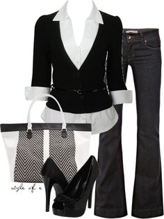 Black and White, created by styleofe on Polyvore