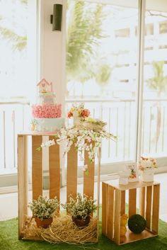 Shabby Chic Garden 1st Birthday Party via Kara's Party Ideas | KarasPartyIdeas.com (12)