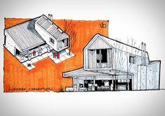 """Sketch de práctica de fachadas: Proyecto Casa CK de @janninacabal. Estudio de boceto rápido para representación arquitectónica. #archisketcher…"""