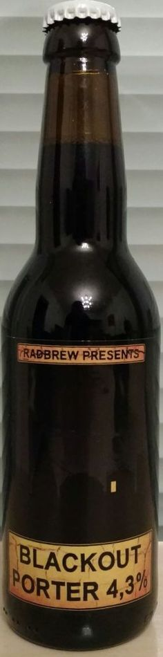 Radbrew - Blackout Porter(Wheat and Sweet Orange Peel) 4,3% pullo