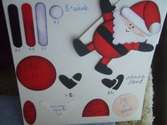 Stampin up Punched Santa by stampingwithlove - Cards and Paper Crafts at Splitcoaststampers