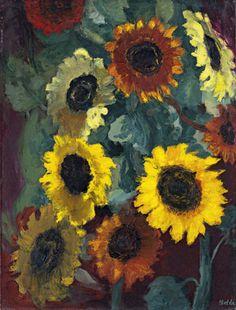 Emil Nolde (German, 1867-1956) - Glowing Sunflowers, 1936 - Museo Thyssen-Bornemisza, Madrid (Spain)