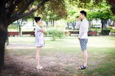 Summer Korea Couple Date Shoot at Sam Cheong Dong & Sunyudo Park, Seoul…
